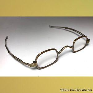 Hallmarked Accessories - 1800's Pre Civil War Era Antique Reading Glasses